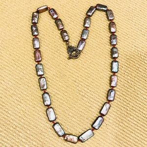 Vintage Mother of Pearl Mulitcolor Luster Necklace